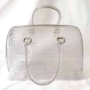 FURLA Clear Croc Candy Bag Large Tote